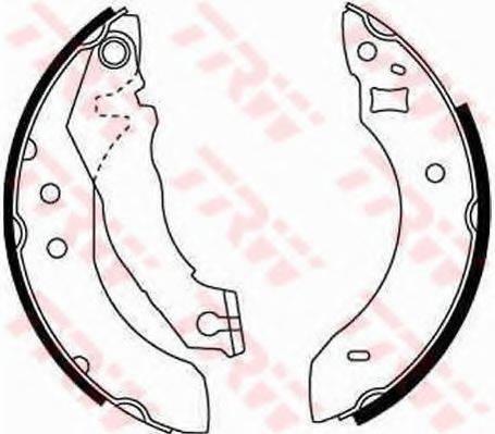 Комплект тормозных колодок TRW GS6151