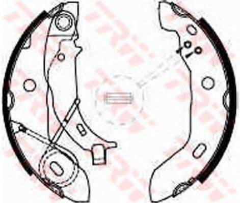 Комплект тормозных колодок TRW GS8627