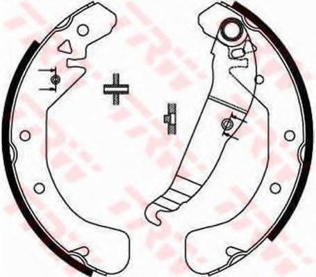 Комплект тормозных колодок TRW GS8637