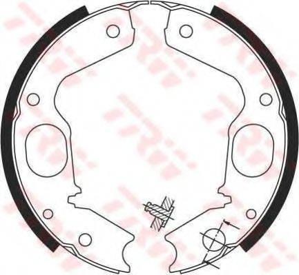 Комплект тормозных колодок, стояночная тормозная система TRW GS8695