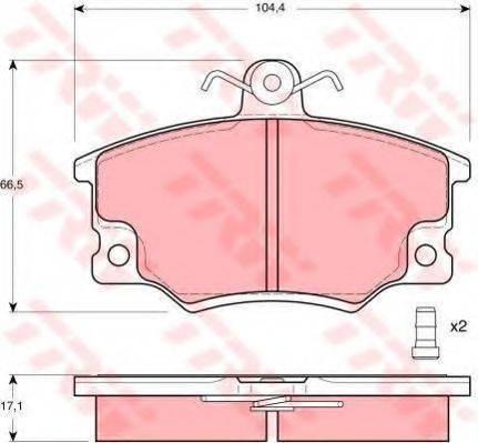 TRW GTD1026 Комплект тормозов, дисковый тормозной механизм