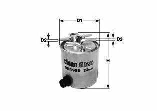 Топливный фильтр CLEAN FILTERS DN1943