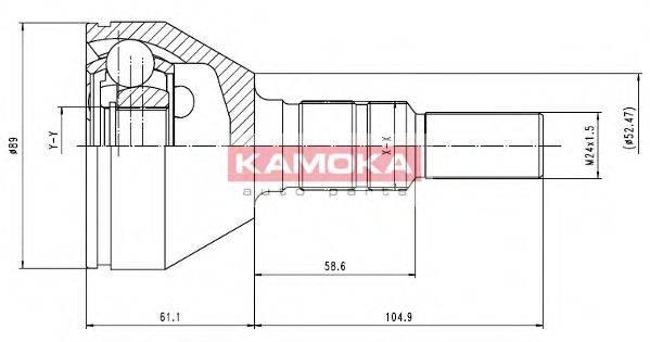 Шарнирный комплект, приводной вал KAMOKA 6035