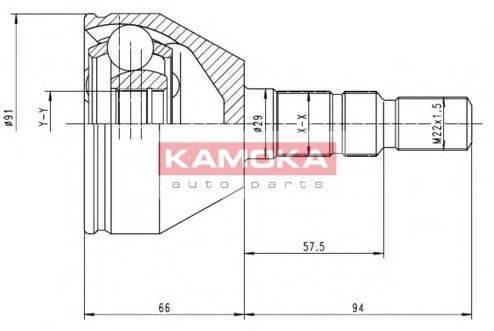 Шарнирный комплект, приводной вал KAMOKA 6037