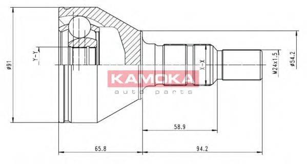 Шарнирный комплект, приводной вал KAMOKA 6039