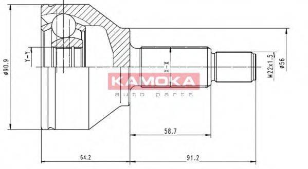 Шарнирный комплект, приводной вал KAMOKA 6040