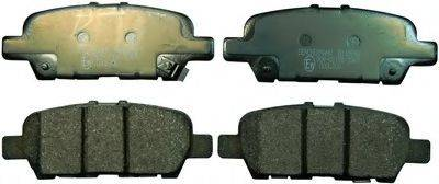 DENCKERMANN B110998 Комплект тормозных колодок, дисковый тормоз