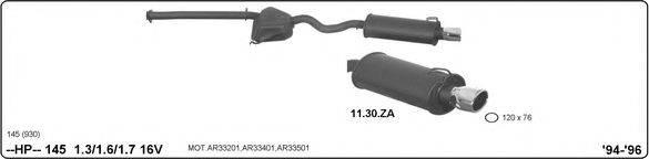 Система глушителя для спортивного автомобиля IMASAF 502000116