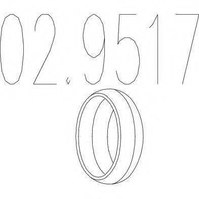 MTS 029517 Уплотнительное кольцо, труба выхлопного газа