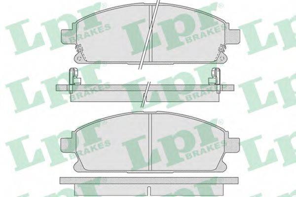 LPR 05P846 Комплект тормозных колодок, дисковый тормоз