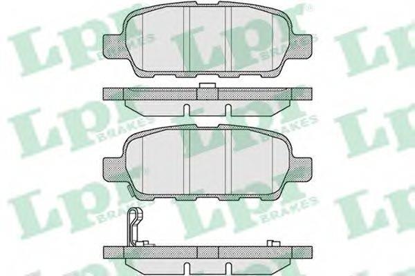 LPR 05P857 Комплект тормозных колодок, дисковый тормоз