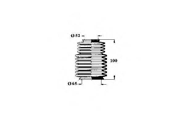 OCAP 1211322 Пыльник, рулевое управление
