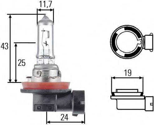 HELLA 8GH008358121 Лампа накаливания, фара дальнего света; Лампа накаливания, основная фара; Лампа накаливания, противотуманная фара; Лампа накаливания; Лампа накаливания, основная фара; Лампа накаливания, фара с авт. системой стабилизации
