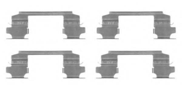 HELLA 8DZ355203731 Комплектующие, колодки дискового тормоза