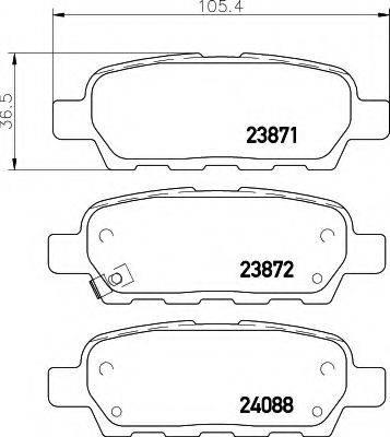 HELLA 8DB355010241 Комплект тормозных колодок, дисковый тормоз