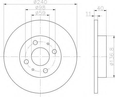 HELLA 8DD355103141 Тормозной диск