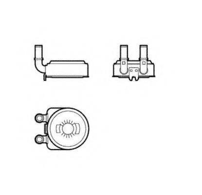 масляный радиатор, двигательное масло NRF 31739
