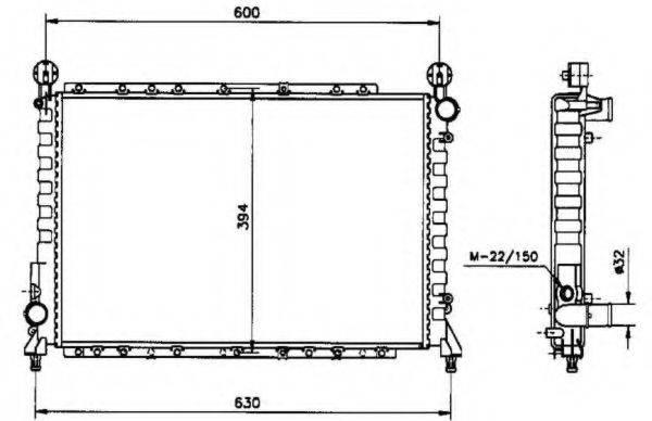 NRF 58084 Радиатор, охлаждение двигателя