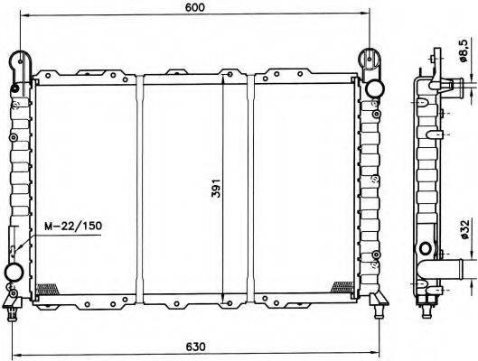 NRF 58996 Радиатор, охлаждение двигателя