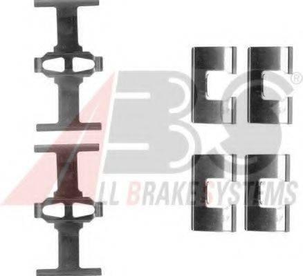 Комплектующие, колодки дискового тормоза A.B.S. 1203Q