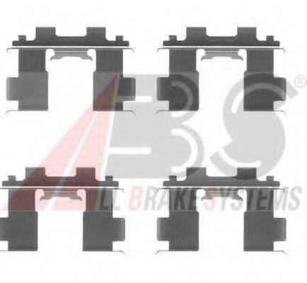 Комплектующие, колодки дискового тормоза A.B.S. 1205Q