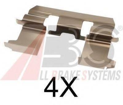 Комплектующие, колодки дискового тормоза A.B.S. 1281Q