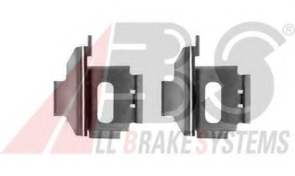 Комплектующие, колодки дискового тормоза A.B.S. 1283Q