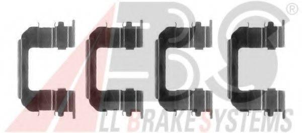Комплектующие, колодки дискового тормоза A.B.S. 1287Q