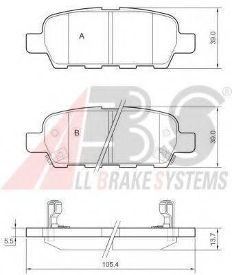 A.B.S. 37321 Комплект тормозных колодок, дисковый тормоз