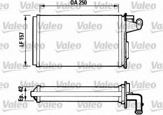 VALEO 811075 Теплообменник, отопление салона