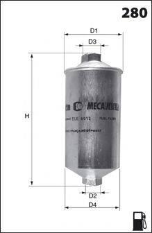 MECAFILTER ELE6012 Топливный фильтр