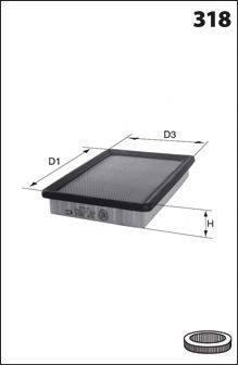 MECAFILTER ELP3205 Воздушный фильтр