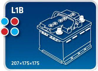 IPSA TM54P Стартерная аккумуляторная батарея