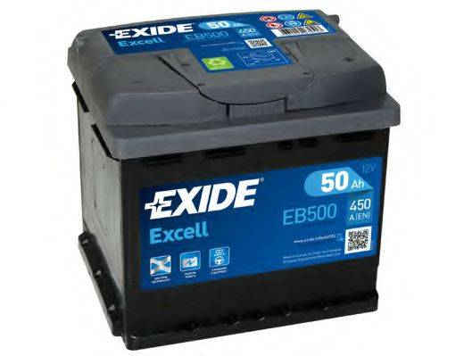 EXIDE EB500 Стартерная аккумуляторная батарея; Стартерная аккумуляторная батарея