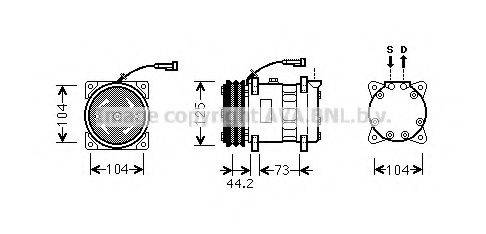 AVA QUALITY COOLING ALK113 Компрессор, кондиционер
