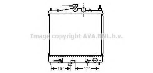 Радиатор, охлаждение двигателя AVA QUALITY COOLING DN2248