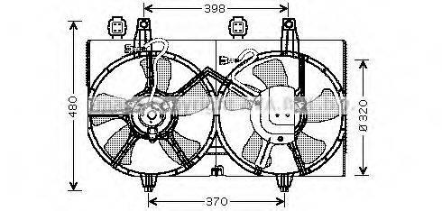 Вентилятор, охлаждение двигателя AVA QUALITY COOLING DN7511