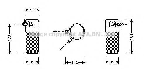 AVA QUALITY COOLING FTD105 Осушитель, кондиционер
