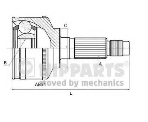 NIPPARTS J2821157 Шарнирный комплект, приводной вал