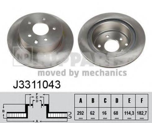 NIPPARTS J3311043 Тормозной диск