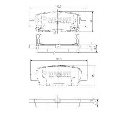 NIPPARTS J3611044 Комплект тормозных колодок, дисковый тормоз