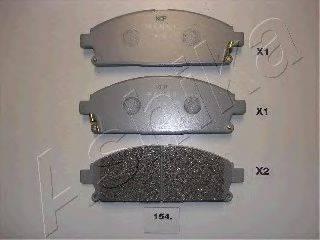 ASHIKA 5001154 Комплект тормозных колодок, дисковый тормоз