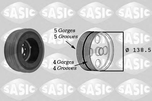 Ременный шкив, коленчатый вал SASIC 9001804