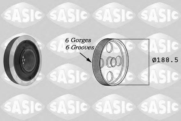 Ременный шкив, коленчатый вал SASIC 9001805