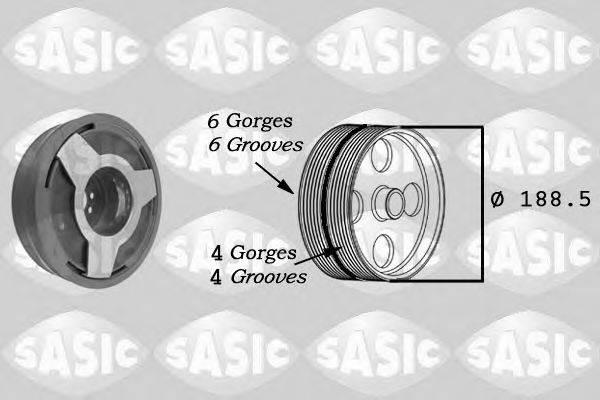 Ременный шкив, коленчатый вал SASIC 9001806