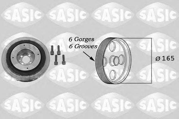 Ременный шкив, коленчатый вал SASIC 9001813