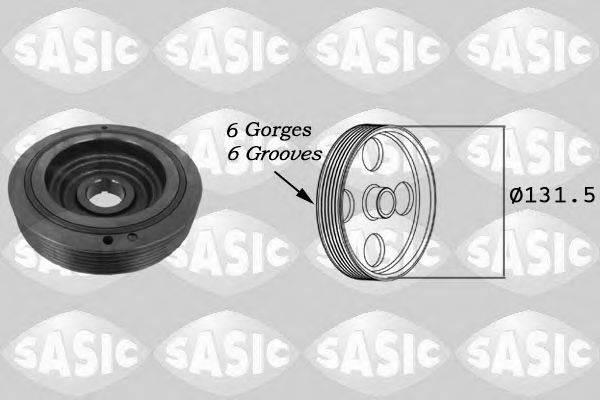 Ременный шкив, коленчатый вал SASIC 9001814