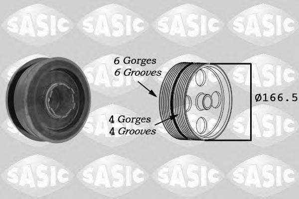 Ременный шкив, коленчатый вал SASIC 9001808
