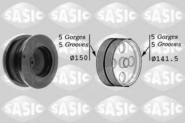 Ременный шкив, коленчатый вал SASIC 9001812