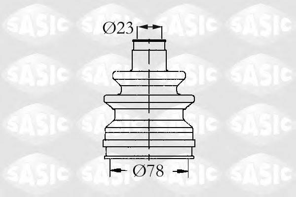 Комплект пылника, приводной вал SASIC 9004502